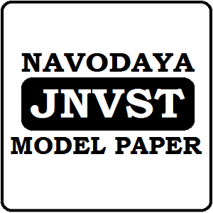 JNVST Model Paper 2019 Navodaya Question Paper 2019 Previous Paper Pdf