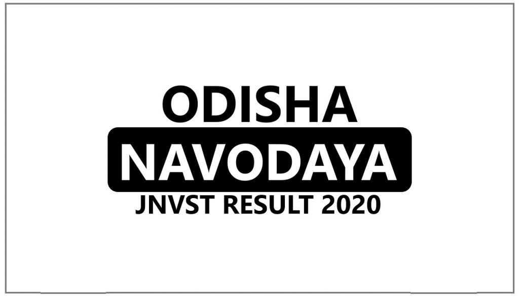 Navodaya Result 2021 Odisha Selection List